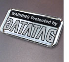Datatag Domed Resin Colour Warning Label