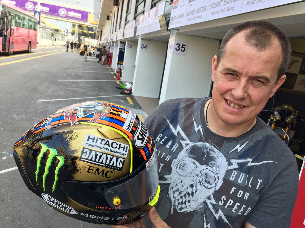 WIN JOHN McGUINNESS's MACAU GP SHOEI HELMET!